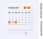 2021 october calendar....