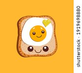 egg sandwich. slice of bread... | Shutterstock .eps vector #1919698880