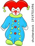 A Funny Clown In A Colorful...