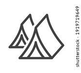 tourist tent line icon. shelter ...   Shutterstock . vector #1919719649