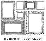set of frames doodle hand drawn ... | Shutterstock .eps vector #1919722919