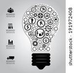 light bulb with gears | Shutterstock .eps vector #191972408
