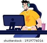 gamer   a person who plays... | Shutterstock .eps vector #1919776016