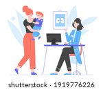 mom and son at a doctor's... | Shutterstock .eps vector #1919776226
