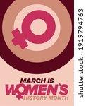 women's history month.... | Shutterstock .eps vector #1919794763