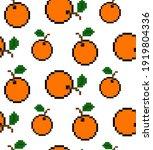 8 bit pixel orange. orange... | Shutterstock .eps vector #1919804336