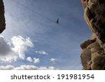 Highline Walker In Blue Sky ...