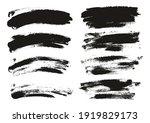 round sponge thin artist brush... | Shutterstock .eps vector #1919829173