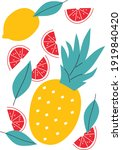 tropical fruit vector... | Shutterstock .eps vector #1919840420