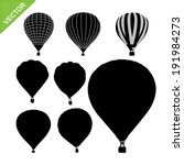 hot air balloon silhouettes... | Shutterstock .eps vector #191984273