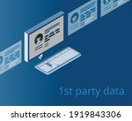 first party data data collected ... | Shutterstock .eps vector #1919843306