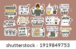 collection of funny... | Shutterstock .eps vector #1919849753