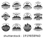mountain expedition and rock... | Shutterstock .eps vector #1919858960