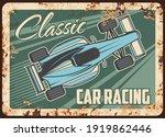 car racing metal rusty plate ...   Shutterstock .eps vector #1919862446