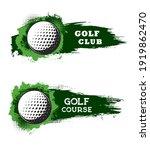 golf club ball on course  sport ... | Shutterstock .eps vector #1919862470