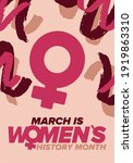 women's history month.... | Shutterstock .eps vector #1919863310