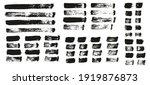 flat paint brush thin straight...   Shutterstock .eps vector #1919876873