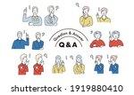 facial expression illustrations ... | Shutterstock .eps vector #1919880410