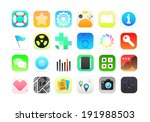 flat icons gradient style with...