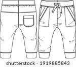 baby boys fleece jogger pant... | Shutterstock .eps vector #1919885843