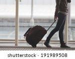 Постер, плакат: Woman carries your luggage