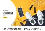 home workout vector... | Shutterstock .eps vector #1919898443