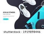web page concept for gym and... | Shutterstock .eps vector #1919898446