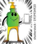 cartoon bottle of hand...