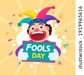 clown vector flat illustration  ...   Shutterstock .eps vector #1919965616
