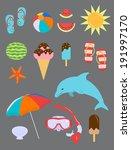 set of summer fun objects   Shutterstock .eps vector #191997170