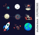 set of universe infographics  ... | Shutterstock .eps vector #1919982383