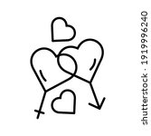 heart vector icon  love symbol. ... | Shutterstock .eps vector #1919996240