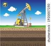 oil pump jack with nature...   Shutterstock .eps vector #1920007250