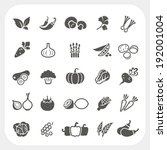 vegetable icons set | Shutterstock .eps vector #192001004