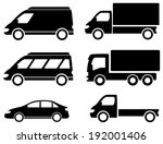 black set transport icons on... | Shutterstock . vector #192001406