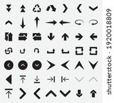 arrow icons collection symbol... | Shutterstock .eps vector #1920018809