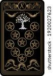 ten of pentacles. card of minor ... | Shutterstock .eps vector #1920027623