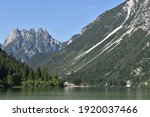 Summer View Of Alpine Lake And...