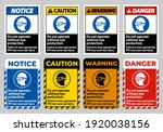 do not enter without wearing... | Shutterstock .eps vector #1920038156