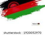 stylish brush flag of malawi.... | Shutterstock .eps vector #1920052970
