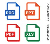 set of format and extension of...