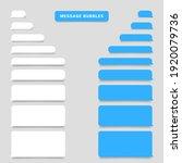 smartphone message bubbles.... | Shutterstock .eps vector #1920079736
