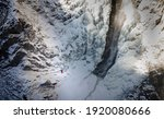 Aerial Drone Shot Of Hiker With ...