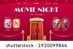 movie night cartoon landing...   Shutterstock .eps vector #1920099866