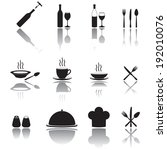 restaurant icon set. food and... | Shutterstock .eps vector #192010076