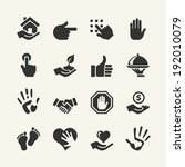 web icon set   hand | Shutterstock .eps vector #192010079