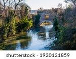 medieval bridge in rome the...   Shutterstock . vector #1920121859