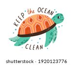 Eco Sticker With Keep The Ocean ...