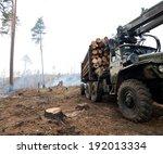 deforestation  logging industry. | Shutterstock . vector #192013334