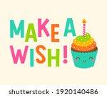make a wish  typography design ...   Shutterstock .eps vector #1920140486